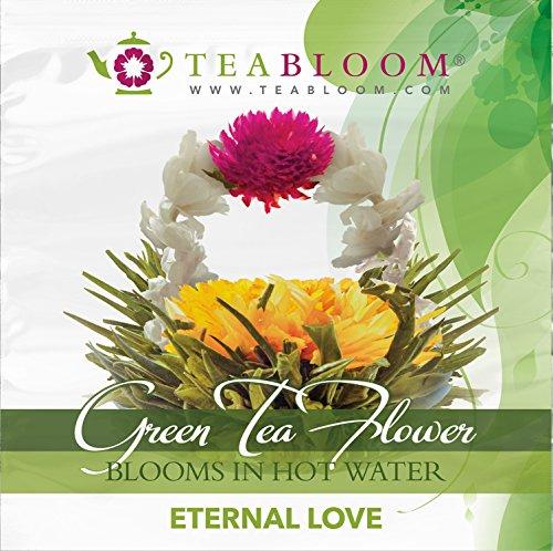 Teabloom Flor De Té - Amor Eterno Y Té De Flores Crecientes De Primavera - 2 Flores De Té Gourmet