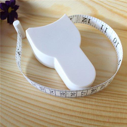 Körpermaßband, automatischer Einzug, für Taille, Brust, Arme, Beine 152cm x 1.5cm weiß