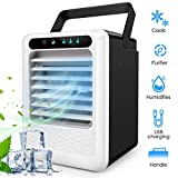 2020 Upgraded Air Conditioner Fan, HALOFUN 3 in 1 Small Personal USB Air Cooler Desk Fan Mini Air Purifier Humidifier...