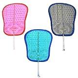 Pai Pai de Bambú hechos a mano 3 colores para BODA (Pack 12 unidades). Rafia, mimbre baratos económicos. Abanico boda, Pai Pai Boda