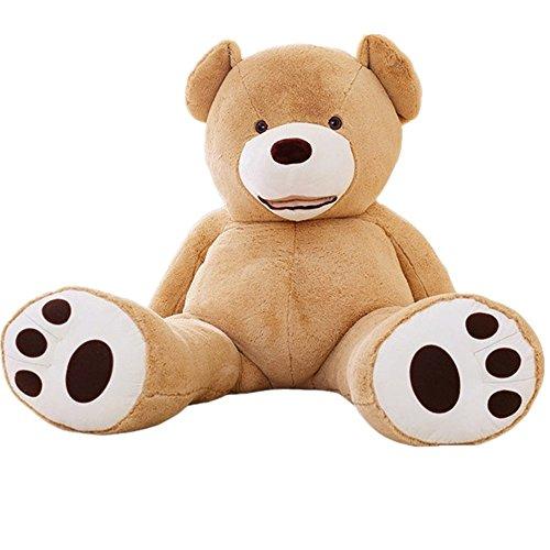 YunNasi Samtig Weich und Kuschelig Riesiger Plüschtier Teddybär (200cm, Hellbraun)