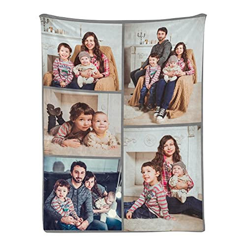 Custom Blanket Personalized Throw Blanket with Photo College Soft...