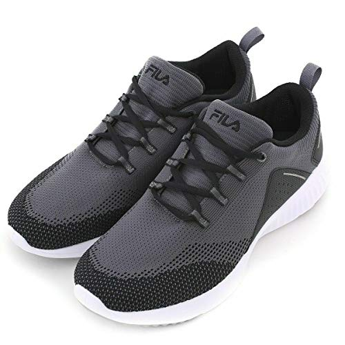 Fila Men's Athletic Running Tennis Shoes (Grey, Numeric_10_Point_5)