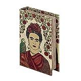 Vidal Regalos Caja-Libro Frida 10x3x14 cm MDF y Tela