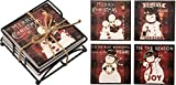 Primitives By Kathy Stone 4 Inches Square Christmas Coaster Set Home Decor