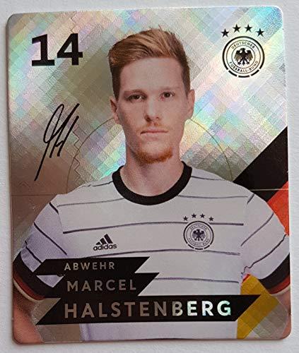 Rewe EM 2020 DFB - Sammelkarten - Glitzer - Nr. 14 - Marcel Halstenberg + 1 toysagent Sonderkarte