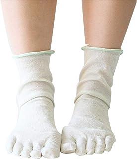 【SERAPH BLANC】さらさら滑らか 重ね履き用シルク5本指靴下