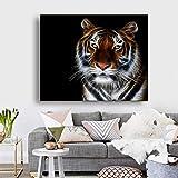 GJQFJBS Tiger Animal Wall Art Canvas Print Poster Sala de Estar Decoración del hogar Mural A1 40x50cm