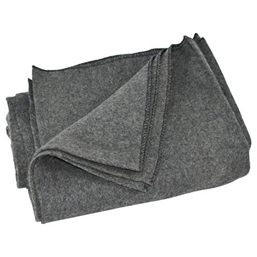 Large Gray Wool Army/Military Type Blanket Surplus Style Emergency Survival Gear | Happy Parents Depot