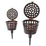 Sanhoc - Caja de Bonsai - Herramienta de cobertura para carro de la compra - Funda de plástico para ollas Nursery - 10 piezas: S