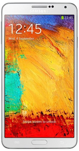 Samsung Galaxy Note 3 Smartphone (14,5 cm (5,7 Zoll) AMOLED-Touchscreen, 2,3GHz, Quad-Core, 3GB RAM, 13 Megapixel Kamera, Android 4.3) weiß