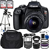 Canon EOS Rebel T7 DSLR Camera with 18-55mm DC III Lens Accessory Bundle: