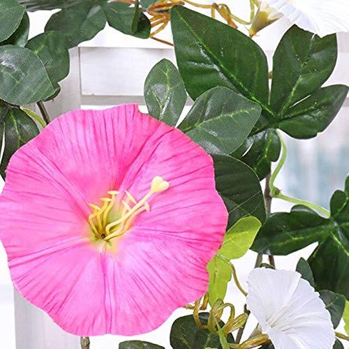 GGDMLJH Kunstmatige nep bloem Simulatie Ochtend Glorie Rotan Decoratieve Nep Bloem Indoor Airconditioning Pijp Blokkeren Verwarming Kunststof Bloem Plant Wijnstok Roze