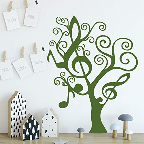 Music tree wall stickers children's room wall decoration accessories removable waterproof poster stickers living room art mural 87X105cm
