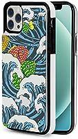 iphone 12 pro ケース iphone12 ケース 手帳型 海の波とカラフルな魚 Iphone12 mini Iphone12 Pro Max 用 スマホケース スタンド機能 Apple 12 レザーウォレットケースアイフォン12 ケース / アイフォン12プロ ケース 財布型