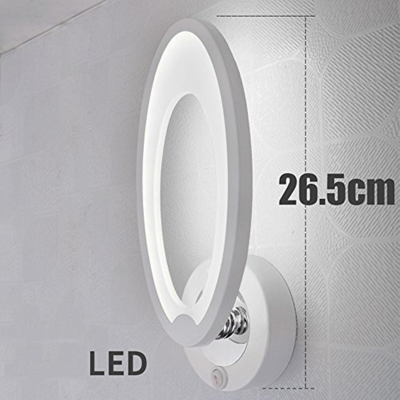 GYP Led Wandleuchte, Creative Schlafzimmer Nachttischlampe Acryl Gang Hintergrund Wandleuchten Wohnzimmer Korridor Lichter Wei Licht Warm Licht 26.5cm ( Farbe   Weies Licht , stil   A )