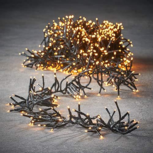 luca lighting Cluster Light Weihnachtsbeleuchtung, PVC, warm weiß, 420 Zentimeter