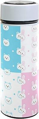 水筒 ウサギ 熊 かわいい 真空断熱 500 ml ステンレスボトル 保冷保温 軽量 直飲み コップ 便利 大人用 学生用 通勤 通学 学生 旅行 プレゼント 手軽