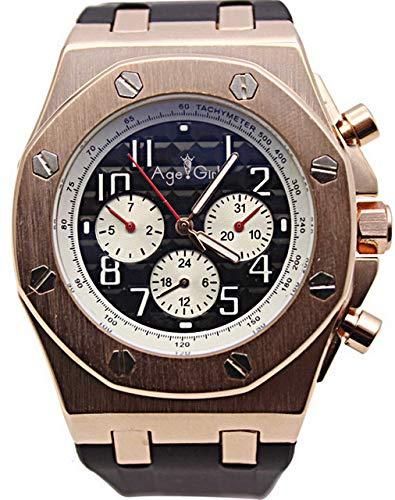 GFDSA Automatische horloges Luxe merk Automatische mechanische zelfwind Roestvrij staal Herenhorloges Blauw Goud Zwarte wijzerplaat Rubber