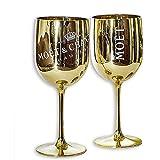 Moet and Chandon Gold Ice Imperial Champagnergläser, Kunststoff, 2 Stück