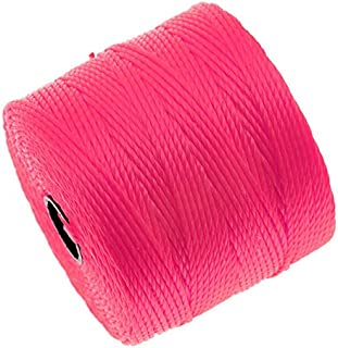 BeadSmith Super-Lon (S-Lon) Cord - Size #18 Twisted Nylon - Neon Pink (77 Yard Spool)