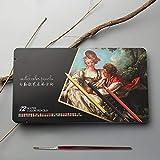 12/24/36/48/72 Lápices De La Acuarela Prima Soft Core Lapis De Cor Soluble Profesional Del Color Del Lápiz De Arte De La Escuela Supplie profesional (Color : 24 Watercolor)