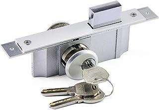 Cerradura de embutir para puertas Cerradura Seguridad para Puerta de marco puerta cerraduraDeadlatch Kit oculta de acero endurecido pin de la placa frontal, 3 llaves