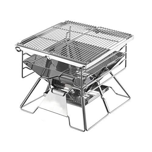 MSF Vouwtafel RVS BBQ Grill/Draagbare Opvouwbare Barbecue Plank/Huishoudelijke Houtskool Oven/Outdoor Koken Camping Wandelen Picnics Rugzak Klein
