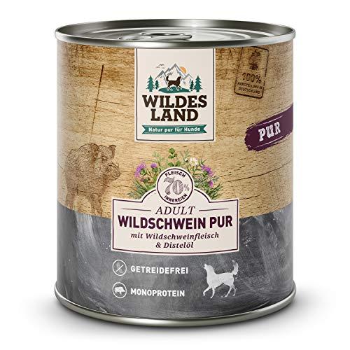 Wildes Land Pur Wildschwein mit Distelöl Nassfutter 6 x 800 g