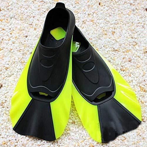 NXYJD POLLQUETE DE PISTO Pantalla DE Nada Corte AUTAS Snorkeling Flippers AUTAS DE BIVO (Color : Yellow, Size : Small-S)