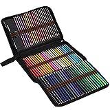 nJiaMe 72 lápices lápices de la Acuarela de Colores Conjunto de Libros para Colorear Capas de Mezcla Dibujo para Adultos Niños Profesionales de Alta Capacidad