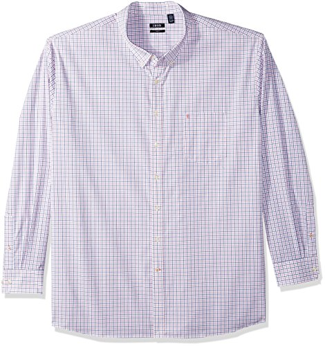 Izod Herren Big and Essential Tattersall Long Sleeve Shirt Hemd, Confetti Tall Slim, X-Large Hoch Schlank