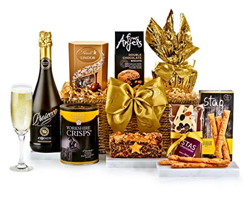 Chedworth Hamper With Prosecco - Hand Wrapped Gourmet Food Basket, in Gift Hamper Box