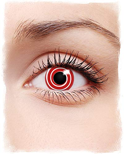 Horror-Shop Rote Spirale Kontaktlinsen