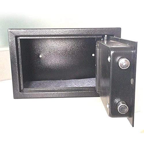 KDOAE Seguro de Acero Caja Fuerte con el Dinero Valioso de Seguridad Digital-electrónica con Sistema electrónico del Teclado for joyería para Casa (Color : Black, Size : 31x20x20cm)