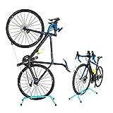 GORIX(ゴリックス) 自転車 スタンド [縦置き 横置き両用] GX-518 (チェレステ)