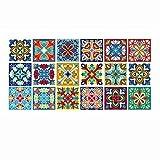 sweetspouse Retro Tile Floor Stickers Bathroom Kitchen Waterproof Wall Decals (HZ018)