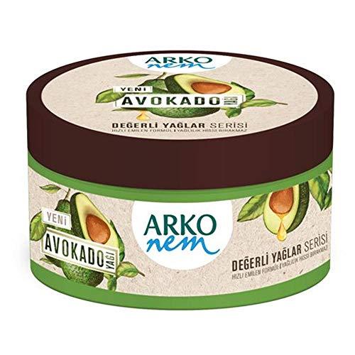 Arko Nem Creme, Avocado - Öl Creme für Körper, Gesicht und Hände, 150 ml Dose, feuchtigkeitscreme, trockene Haut, Damen und Herren pflege Creme,nicht fettend