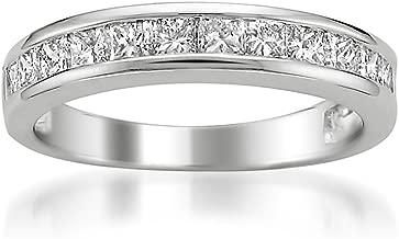 Platinum Princess-Cut Diamond Wedding Band (1cttw, H-I Color, I1-I2 Clarity), Size 8