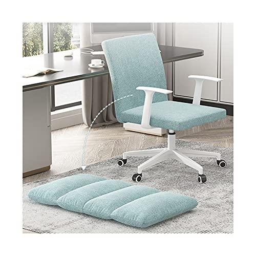 Gepolsterter Schreibtischstuhl Leinen, bequemer Drehstuhl für das Home Office, höhenverstellbare Computer-Arbeitsstühle für das Schlafzimmer im Wohnzimmer