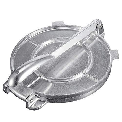 Quitd 20 cm Quesadilla & Tortilla Maker Tortilla Maker Aluminium Teig Presse Maker Mehl Mais Heavy Gauge Mehl Mais Presse Maker für Kuchen Maker Frühstück (20 x 15 x 24 cm)