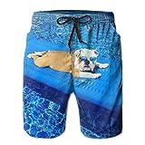 Loongbc English Bulldogs Men's Casual Beach Shorts Swimming...