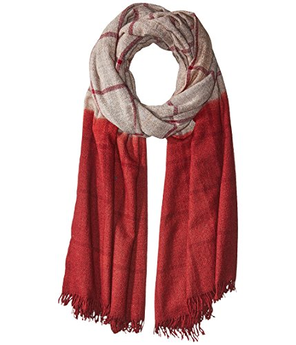 Michael Stars Women's Check Yourself Wrap Quicksand Scarf