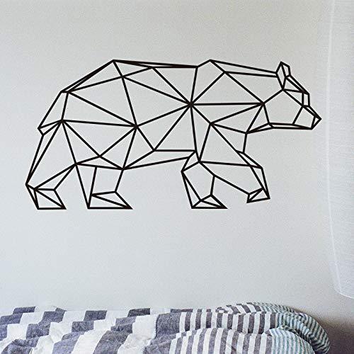 Origami Geométrica Oso Pegatinas de Pared Decoración para el hogar Vinilo Tatuajes de Pared Animal Creativo Extraíble Mural Para la Sala de estar 80X40CM