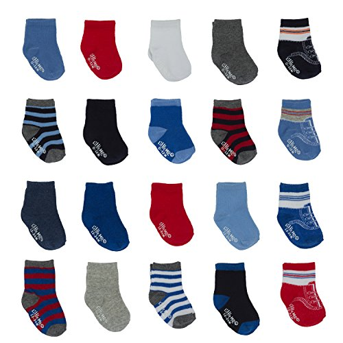 Little Me Infant Socks & Baby Boy Socks, 20 Pairs, 0-12/12-24 Months