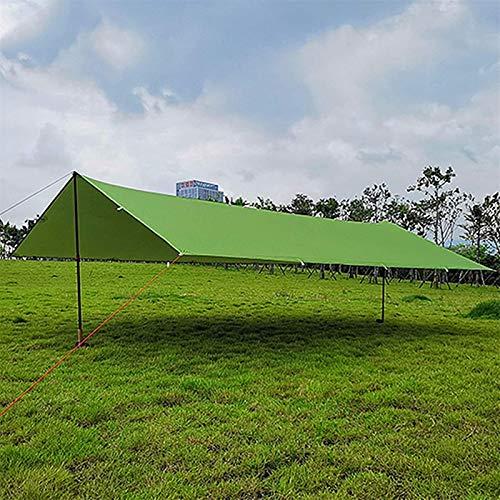 ZJDU Tiendas de campaña para Acampar Sombrilla Ultralight Tarpaulin al Aire Libre Acampada Toldo 15D Pérgola Plateada Pérgola Playa Impermeable Tienda (Color: Gris, Tamaño: 3x3m)