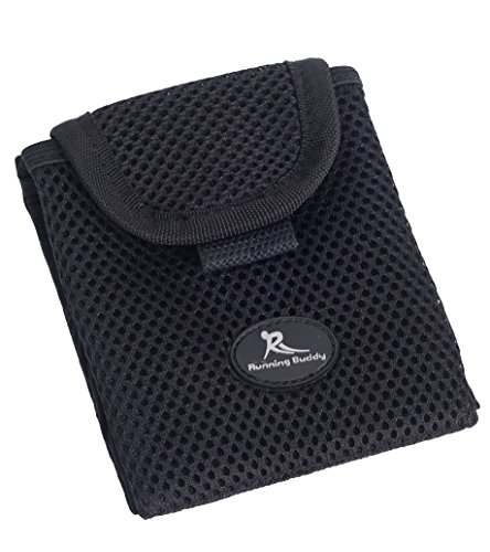 Running Buddy - 'Buddy Pouch Black Mini - Small and Convenient, Belt-Free and Lightweight Personal Magnetic Storage Pouch (3.5' L x 4' H)