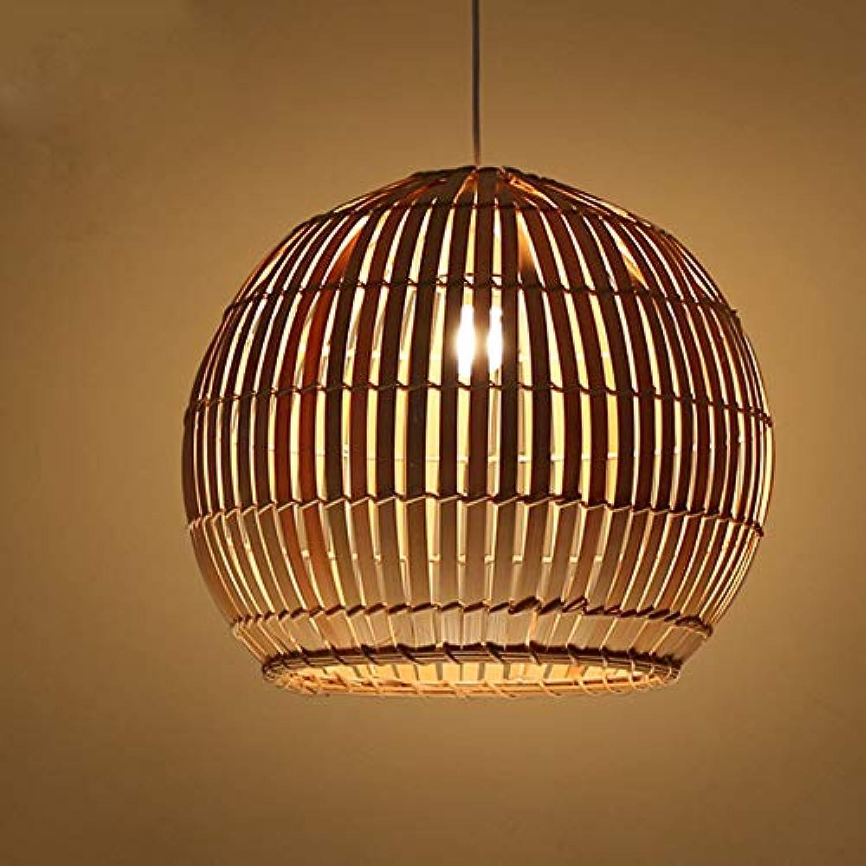 Pendelleuchte, Kronleuchter Natur Bambuskunst Moderne Designer Innenbeleuchtung Hngelampe Restaurant Club Café Bar Pendellampe [Energieklasse A+] (Farbe   Warmes Licht, Gre   30  25cm)