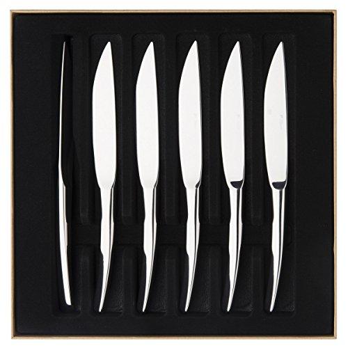 Guy Degrenne, 206296, Set di 6 coltelli da Bistecca monoblocco