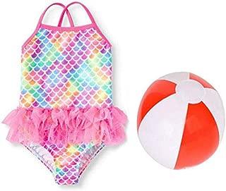 Color : Pink, Size : L FeliciaJuan Kids Beach Sport Banded One Piece Swimsuit Girls Tassel One-Piece Swimwear